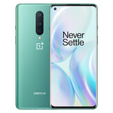 OnePlus 8 5G Global Rom 6,55 polegadas FHD + 90Hz Display NFC Android10 4300mAh 48MP Câmera Traseira Tripla 12 GB 256 GB Snapdragon 865 Smartphone