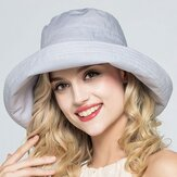 Women Adjustable Cotton And Linen Rolling Floppy Hat