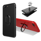 Bakeey™ 360° Adjustable Metal Ring Kickstand Magnetic Frosted Soft TPU Case for iPhone 7Plus/8Plus