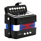 Mini hračka akordeon 7 kláves a 3 tlačítka klávesnice hudební nástroj pro děti děti dárek