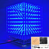 3D Light Cube Kit 8x8x8 Blauwe LED MP3 Music Spectrum DIY elektronische kit