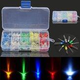 3 x 375pcs Each Box 3MM 5MM LED Light Emitting Diode Beads Resistance Lights Kits Bulb Lamp
