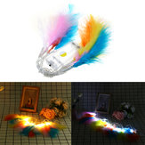 Battery Powered 1.3M 10LED Colorful Feather String Holiday Light For Xmas Party Decor DC3V
