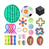Fidget Toys Sensory Set Anti Stress Relief Fidget Bubble Toys Decompression Artifact Hand Toys For Kid Adults