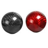 عالمي سيارة جولة الكرة الشكل والعتاد التحول المقبض أسود أحمر من ألياف الكربون