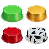 100Pcs/Set Round Aluminum Foil Cake Cup Reusable Baking Mold Muffin Case with Cover