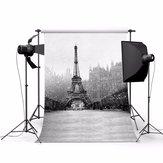 3x5ft Eiffelturm Thema Fotografie Vinyl Hintergrund für Studio 0.9x1.5m