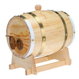 1.5 / 3L Wood Barrel Oak Brewing Vintage Keg Wines Whisky Home Storage Holder