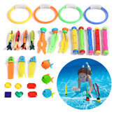 34PCS Children's Swimming Toy Diving Ring Seaweed Diving Stick Water Throwing Toys Summer Game Swimming Pool Toys