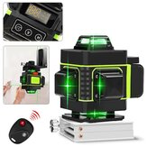 16-Line Strong Green Light 3D Remote Control Laser Level Measure with Wall Attachment Frame