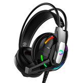A12 Gaming Headphone Headset Deep Bass Stereo Wired Øretelefon med Mic LED Light til PC Computer