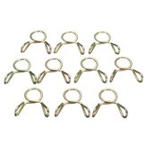 10pcs 8mm Fuel Line Hose Tubing Spring Clips Clamps For Motorcycle ATV Scooter