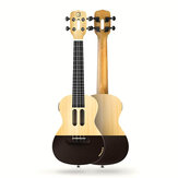 Populele U1 23 Zoll 4-saitige Smart Ukulele mit APP-gesteuerter LED Light Bluetooth Connect