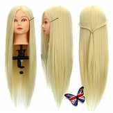 30% Echte Human Hair Training Head Salon Kapsalons Cut Mannequin Met Clamp