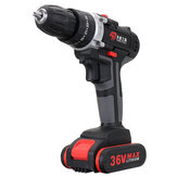36V Cordless Lithium Eletric Drills Impact Power Drill Double Speed W/ Accessories
