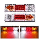 2Pcs 12V 19 LED Luz indicadora de mudança de direção da cauda de lágrima para reboque de caminhão de carro