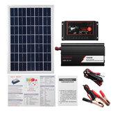 Kit di sistema 12V / 24V DIY solare Soalr Charge Controller 18V 20W solare Pannello 1000W solare Inverter solare Kit di generazione di energia
