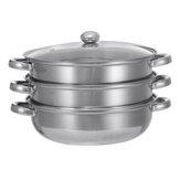 Olla de cocina Utensilios de cocina de acero inoxidable Sartén para sopa hirviendo al vapor Juego de cocina 28CM