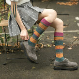 Women Girl Patchwork Harajuku Style Warm Long Tube Socks
