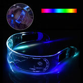 نظارات LED EL Wire Neon Party Luminous LED Glasses ضوء Up Glasses Rave Costume Party Decor DJ SunGlasses Halloween Decoration