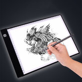 A3/A4 Drawing Tablet with Scale USB Powered Three Gear Dimming / Stepless Dimming Art Stencil Portable LED Drawing Board