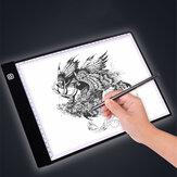 A3 / A4スケール付き描画タブレットUSBパワード3ギア調光/無段階調光アートステンシルポータブルLED製図板