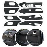 8 sztuk Dekoracja samochodu Podłokietnik z włókna węglowego Uchwyt Naklejki dla MITSUBISHI