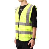 5 Couleur Vis Gilet Vêtements de Travail Sécurité Gilet Réfléchissant Gilet de Sécurité Réfléchissant