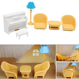 Dollhouse Sofa Piano Table Miniaturowe zestawy meblowe dla Sylvanian Family Accessories Kids Gift Toys