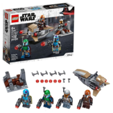 LEGO Star Wars Mandalorian Battle Pack 75267 Zestaw konstrukcyjny Mandalorian Shock Troopers i Speeder Bike; Świetny pomysł na prezent dla każdego fana Star Wars: The Mandalorian TV Series, New 2020 (102 Pieces)