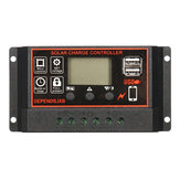 10A-60A 12V / 24V Auto Solar Controller LCD Solar Charge Controller PWM Solar Panel Controller Batterie Regulator With 2 USB Port