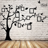 2.5M Removable Memory Tree Picture Frames Wallpaper Photo Wall Stickers Decor Bird Room Wall Black