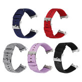 Bakeey Colorful Nylon Canvas Replacement Watch Band Strap for Fitbit Charge 3 Smart Watch