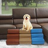 Σκάλες για σκύλους Δερμάτινη σκάλα για κατοικίδια Σφουγγάρι σκάλες για σκύλους αρκουδάκι στον καναπέ στο κρεβάτι