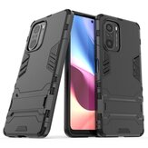 Bakeey for POCO F3 Global Version Case Armor with Bracket Shockproof PC Protective Case Back Cover