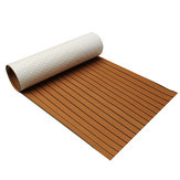 240cm x 45cm x 6mm Brown EVA Foam Teak Sheet Boat Yacht Synthetic Teak Decking With Glue
