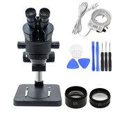 Simul Focal Industrial Trinocular Stereo Microscope Zvětšení Kontinuální přiblížení 3,5-90X pro Opravy PCB pro LAB Pájení