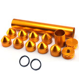 1/2-28 5/8-24 Gold Car Fuel Filter Aluminum Solvent Trap Single Core For NAPA 4003 WIX 24003 OD 1.7