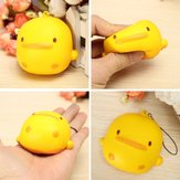 Squishy Yellow Duck Soft Leuke Kawaii Phone Bag Stuk Toy Gift 7 * 6.5 * 4cm