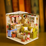 Iiecreate DIY Doll House House Handmade Assembled Educational Toy Art House Christmas Gift Creative Birthday Gift With Dust Cover And Furniture