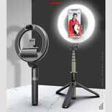 Bakeey L07 bluetooth Selfie Ring Fill Light Wireless Control Dimmable Camera Phone Ring Lamp With Tripod Stand For Makeup Video Vlog Live
