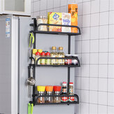 2/3-Layer Refrigerator Rack Fridge Side Shelf Sidewall Holder Kitchen Supplies