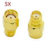 5pcs SMA Female To RP-SMA Male Adapter Connector for RC Drone FPV Racing