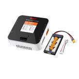 ISDT Q6 Nano BattGo 200W 8A Lipo Batería Cargador Color blanco con enchufe XT60 Tablero de carga paralelo