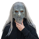 Horror The Night King Mask Cosplay Game of Thrones White Walkers Zombie Maski Lateksowe Z Włosami Halloween Party Costume Rekwizyty