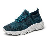 Zapatillas deportivas ligeras y transpirables de tejido de punto para hombre