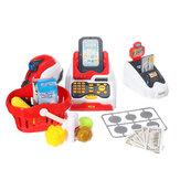 24 PCS Multi-funcional Supermercado Simulación Caja registradora Juego interactivo Juguetes para niños Familia herramienta