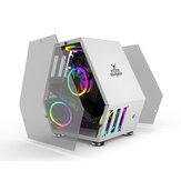 Sahara Monster Computer Gaming Caso M-ATX Desktop Mini Juego de chasis de forma especial Competitivo Soporte lateral de vidrio Placa base M-ATX / ITX