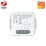 Tuya ZB 1CH Switch Mini On-off Device APP Mobile Phone Voice Control Module Works with Alexa Google Home