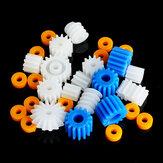26本プラスチックスピンドルウォームモーターギアセットと袖2ミリメートル2.3ミリメートル3ミリメートル3.17ミリメートル4ミリメートル